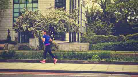 A woman with ADHD goes running to help keep symptoms under control with exercise