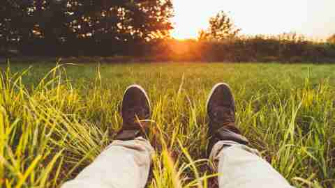 A man with ADHD watches the sun rise, and thinks about his strengths.