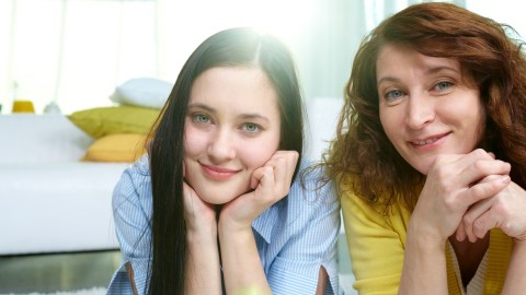 Mother and her daughter, diagnosed with ADHD and anxiety