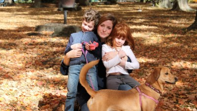 Laura Russin and her family.