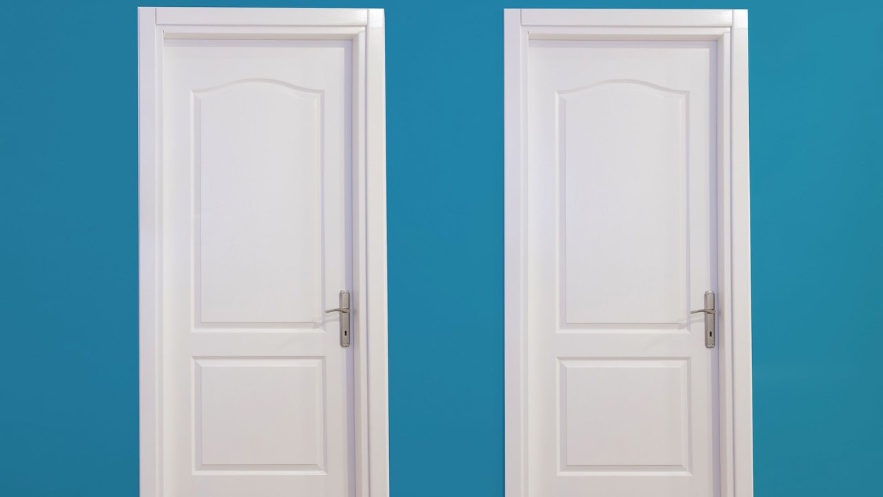 Two doors representing the ADHD coach and the therapist.