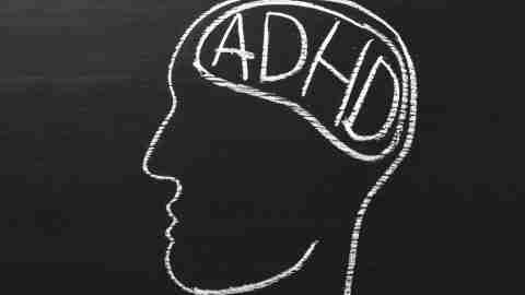 An illustration of an ADHD brain