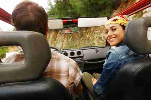 Young Couple with ADHD in Off-Road Vehicle