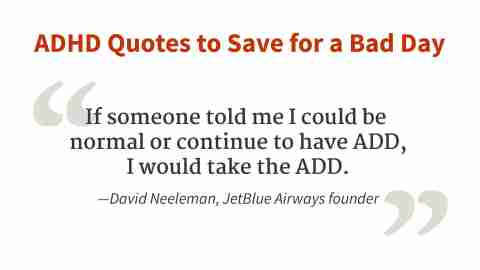 """I would take the ADHD."" - David Neeleman"