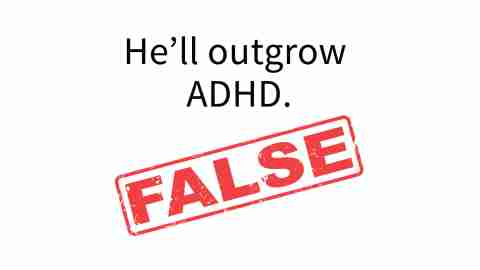 Not all children outgrow ADHD symptoms