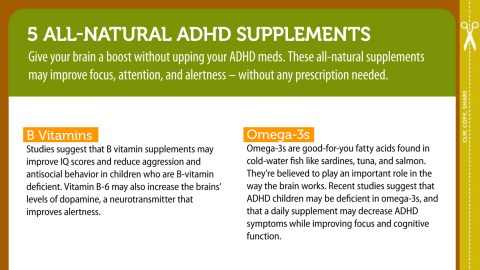 5 Natural Supplements for ADHD Symptoms