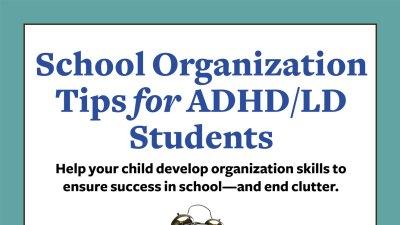 School Organization Tips for ADHD