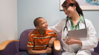 A boy with ADHD visiting his doctor for treatment