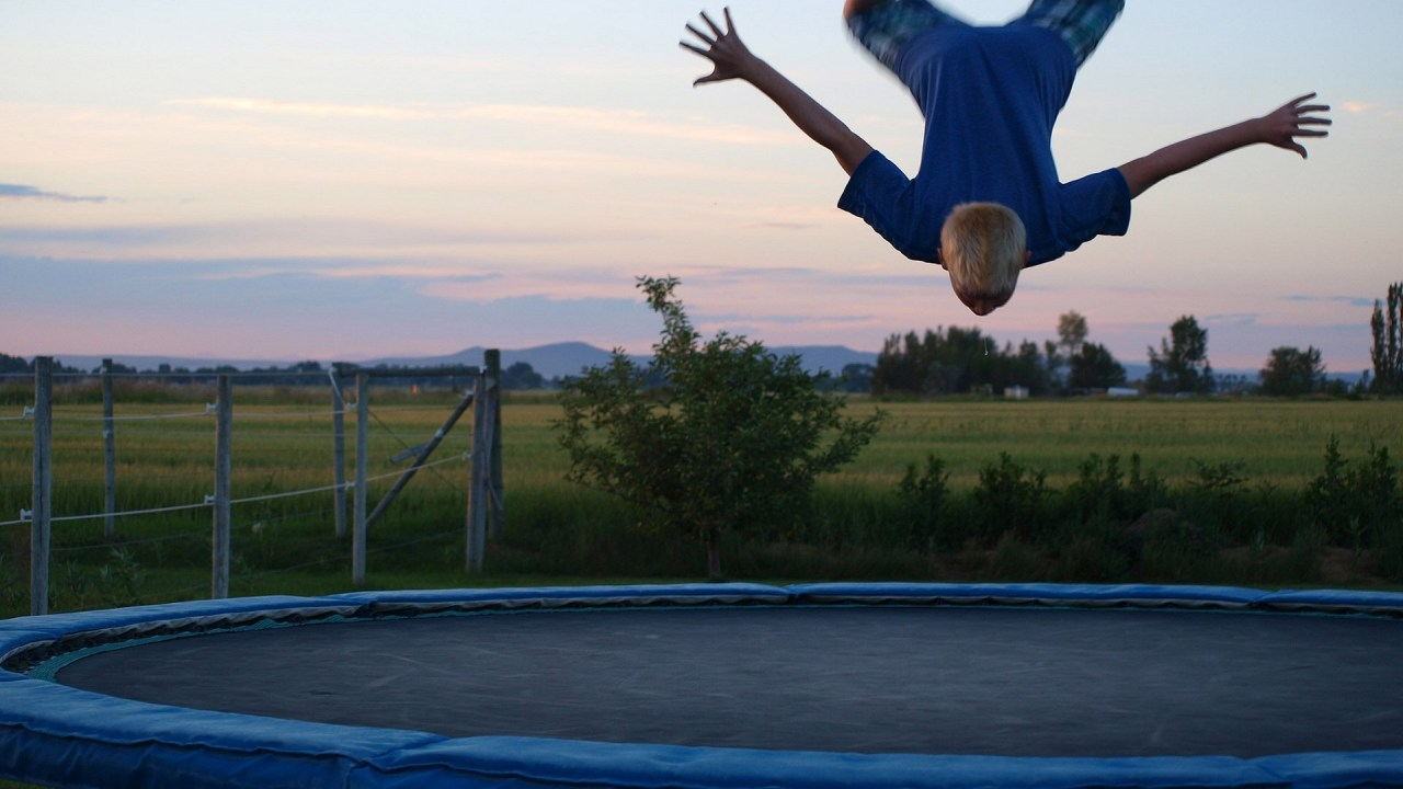 Protect kids from high-risk behaviors like flips on trampolines