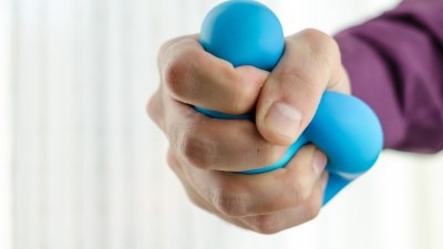 Anti-stress balls in ADHDer's hand