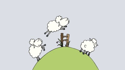 Illustration counting sheeps before sleeping, a method for people with ADHD