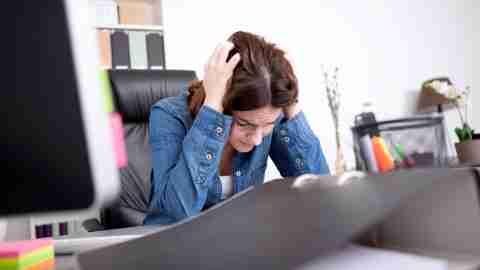 ADHD woman at work