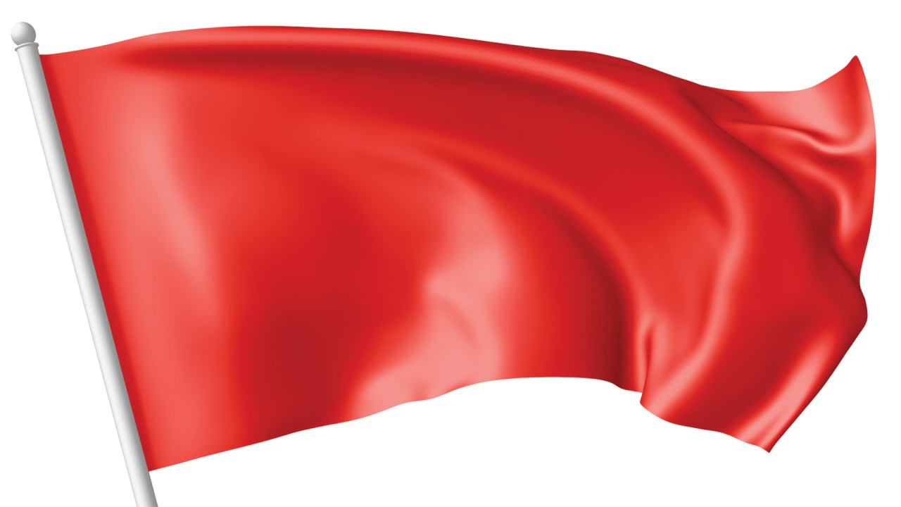 Red flag symbolizing the early signs of learning disabilities in children