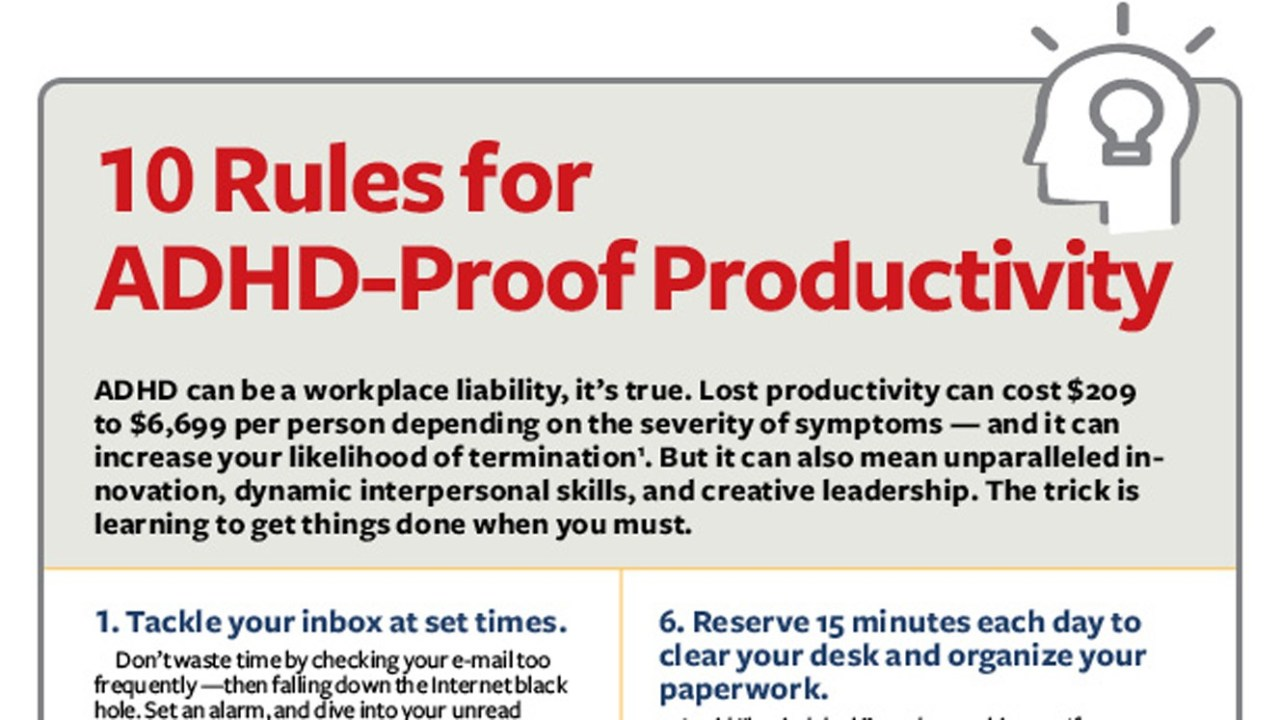 How to Be More Productive at Work with ADHD