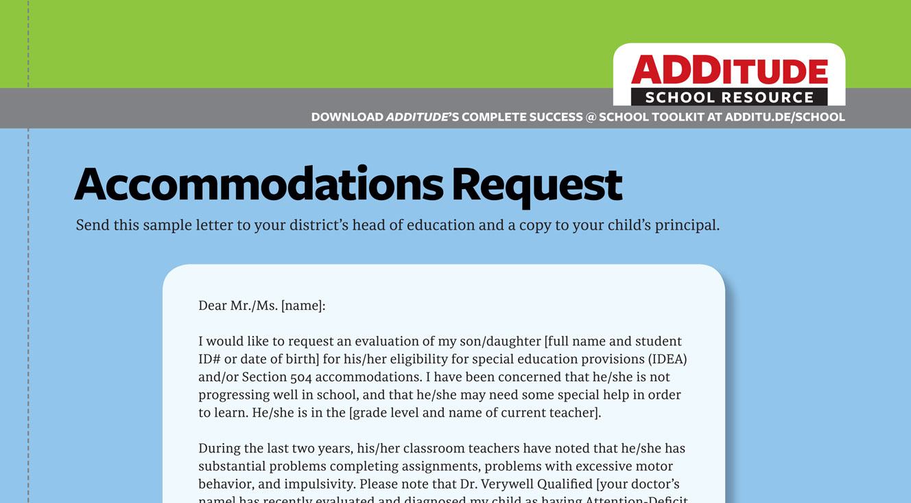 Free Handout: Accommodations Request