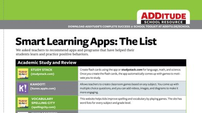 Smart Learning Apps for Students with ADHD: The List