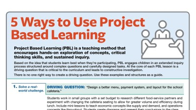 5 Ways to Use Project Based Learning at School