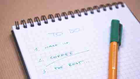 A to do list of three new year's resolutions