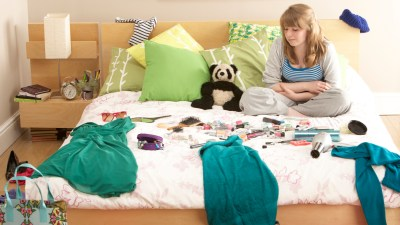 A teenager who loses everything in her untidy bedroom
