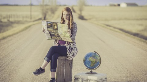 Woman with ADHD reading a map