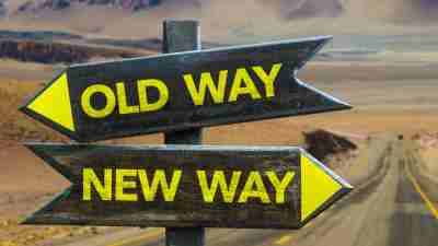 Old Way New Way Signs