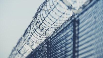 Barbed Prison Fence