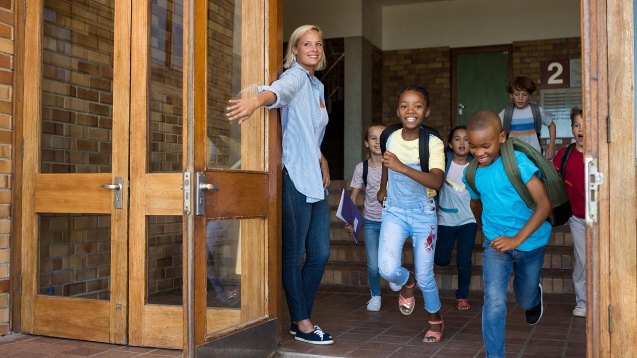 Kids Leaving School