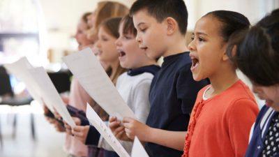 Children Singing in Choir