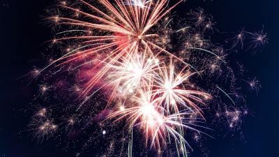 Fireworks symbolizing ADHD energy