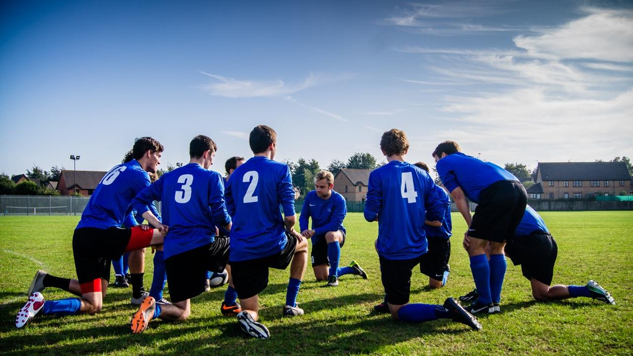 Soccer players are activity friends