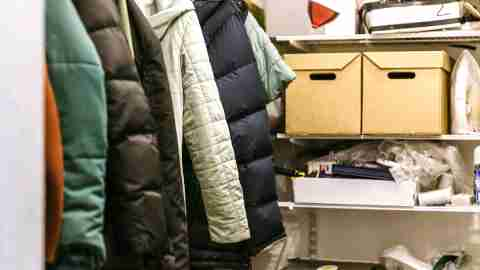 A cluttered closet--one type of home project to get started on.