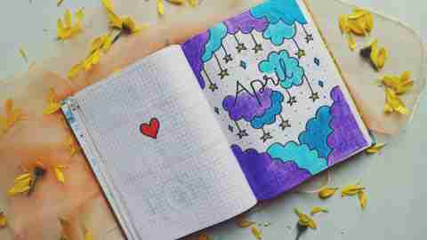 Notebook for learning at home with ADHD