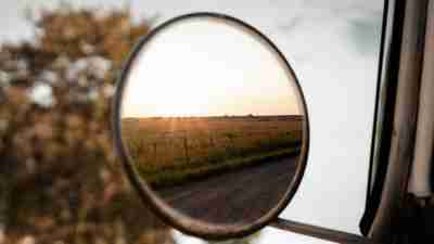 Rearview mirror signifying perspective