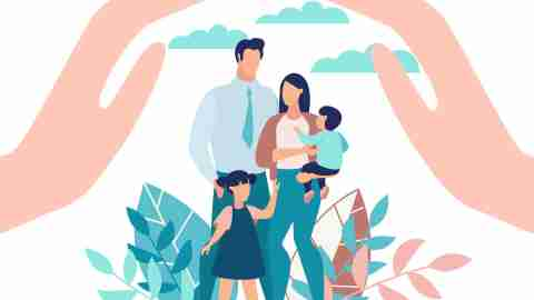 how to reduce stress - calm family concept