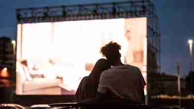 ADHD couple at drive in movie