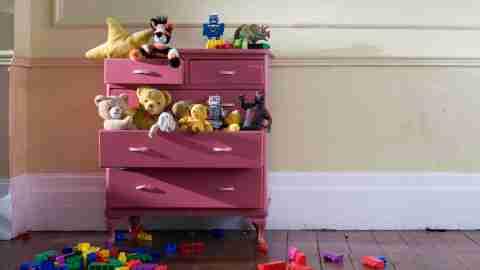 messy dresser