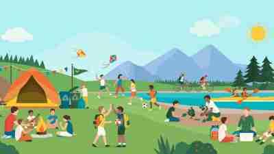 kids enjoying summer activities