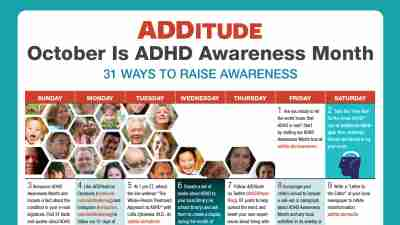 ADHD Awareness Month Calendar
