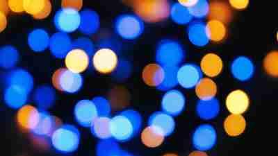 Bokeh -an unfocused pattern of lights