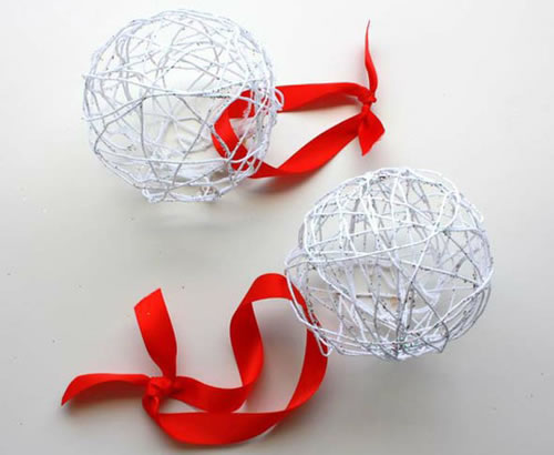 Palline Di Natale Fai Da Te Con Lo Spago Diy Christmas String Balls
