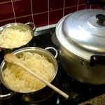 Onion soup in the making