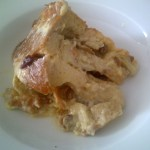 Bread and butter pudding all dished up