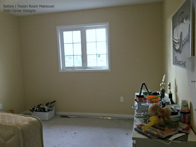 Tween Room Before - Debi Collinson Designs