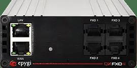QXFXO4 Gateway - מתאם לקישור 4 קווים אנלוגיים לקישור קווי בזק