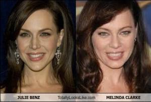 JULIE BENZ Totally Looks Like MELINDA CLARKE