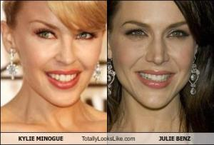 KYLIE MINOGUE Totally Looks Like JULIE BENZ