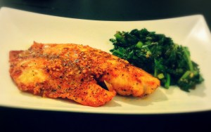 Food For Taut- Baked Tilapia & Turnip Greens