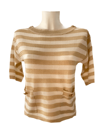 stripe luxe T shirt