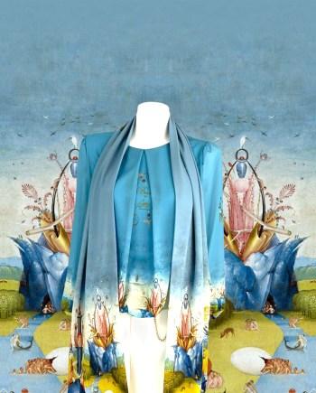 blauwe Jeroen Bosch blouse