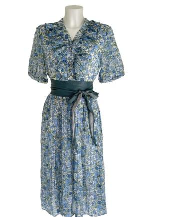 mille fleur dress bleu